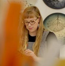 Rachel in her studio