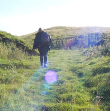 Emily walking in the Dales